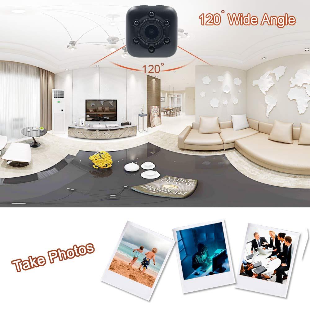 Mini Cámara Espía LXMIMI 1080P Mini Cámara Oculta Portátil Gran Angular con Detección de Movimiento y Visión Nocturna Cámara de Video Full HD Cámara DV ...