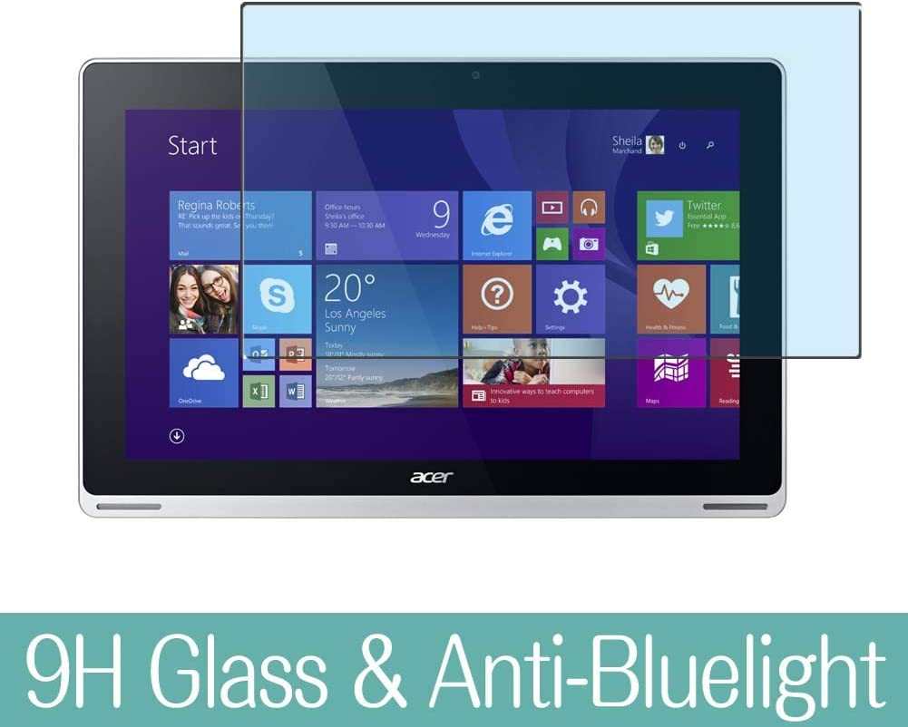 """Synvy Anti Blue Light Tempered Glass Screen Protector for Acer Aspire Switch 11 SW5-111 / SW5-111P 11.6"""" Visible Area 9H Protective Screen Film Protectors (Not Full Coverage)"""