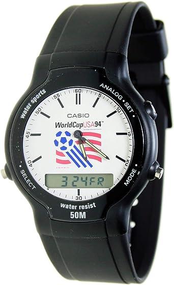 Casio Swc-03-2v Reloj Analógico/Digital para Chico Colección Collection World Cup USA Caja De Resina Esfera Color Blanco: Amazon.es: Relojes