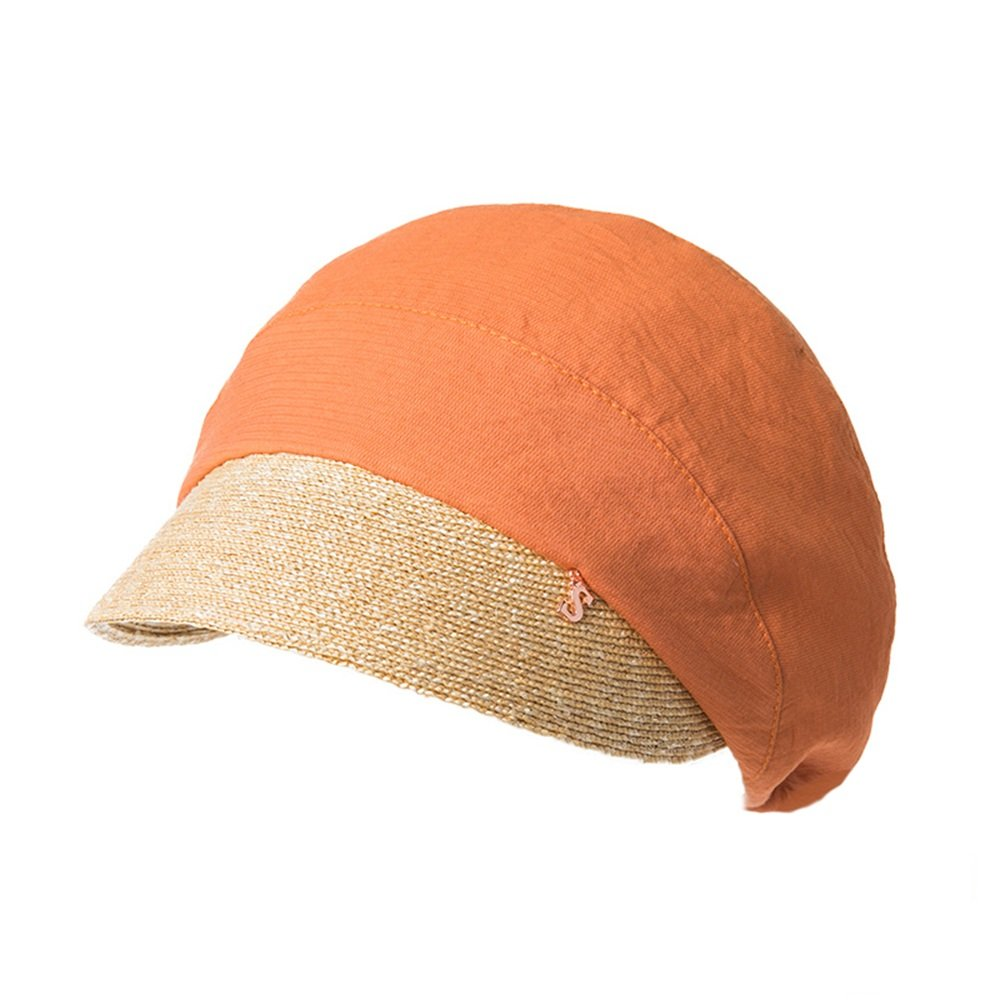 QFFL xiajibaidamaozi Hut-weiblicher Sommer-Barett-zufälliger Visier-Hut, der Hut im Freienhut-Hut des Caps spleißt Herrenhüte B07F85X137 Caps Elegante und stabile Verpackung
