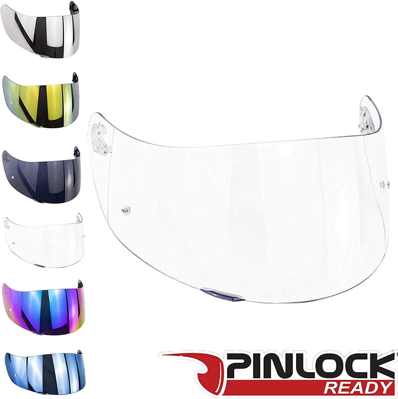 transparente Visera para casco compatible con AGV K3 Sv K1 K5 K5s S4-Sv Horizon Stealth-Sv Skyline Strada Numo Aftermarket Oro Azul Espejo Arcobaleno Transparente Fume GT-2