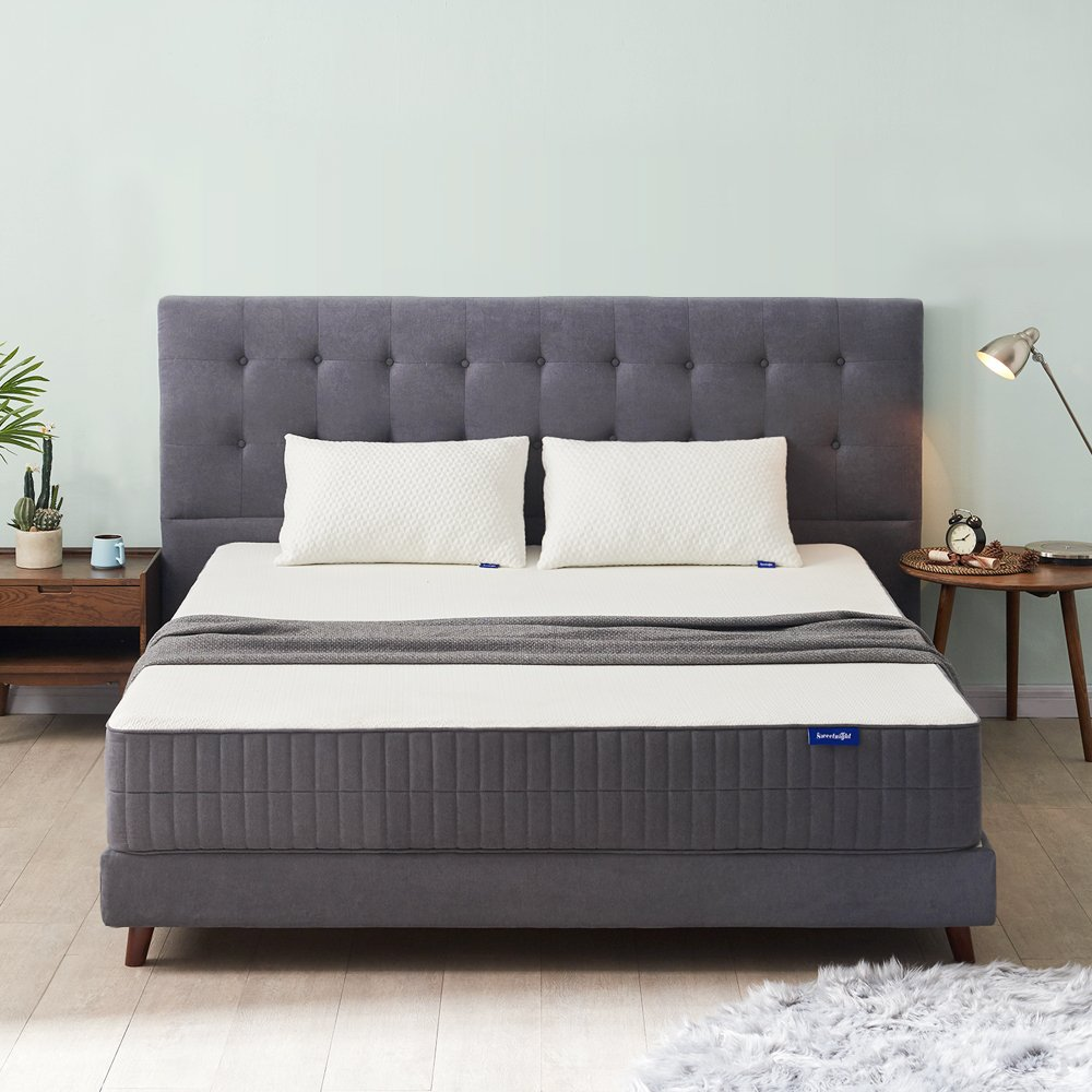 Sweetnight Twin Mattress, 10 Inch Gel Memory Foam Mattress in a Box, CertiPUR-US Certified Foam Mattresses for Sleep Cool & Supportive, Flip Available for Soft or Medium Firm Option, Twin Size