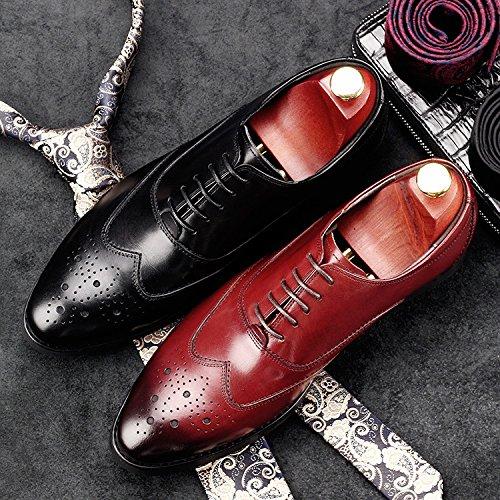NBWE Chaussures pour Hommes Affaires Chaussures en Cuir Chaussures Habillées Occasionnels pour la Soirée Soirée black GiJQT