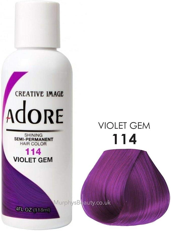 Adore Shining - Tinte semipermanente, número 114 gema violeta.
