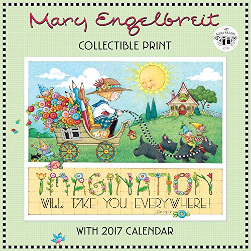 Mary Engelbreit's 40th Anniversary Collectible Print with 2017 Wall Calendar ()
