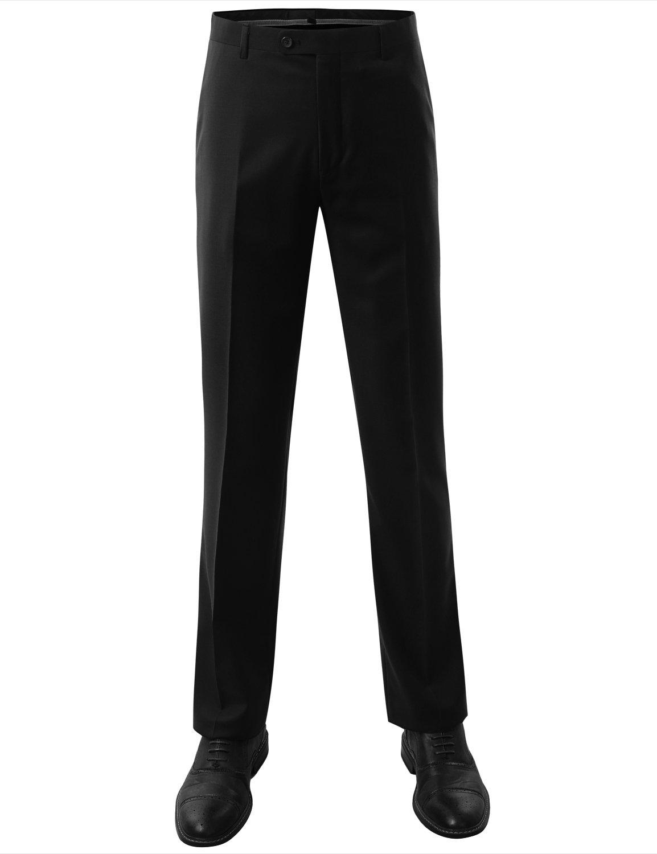 MONDAYSUIT Men's Modern Fit 2-Piece Suit Blazer Jacket & Trousers BLACK 50R 45W by MONDAYSUIT (Image #6)
