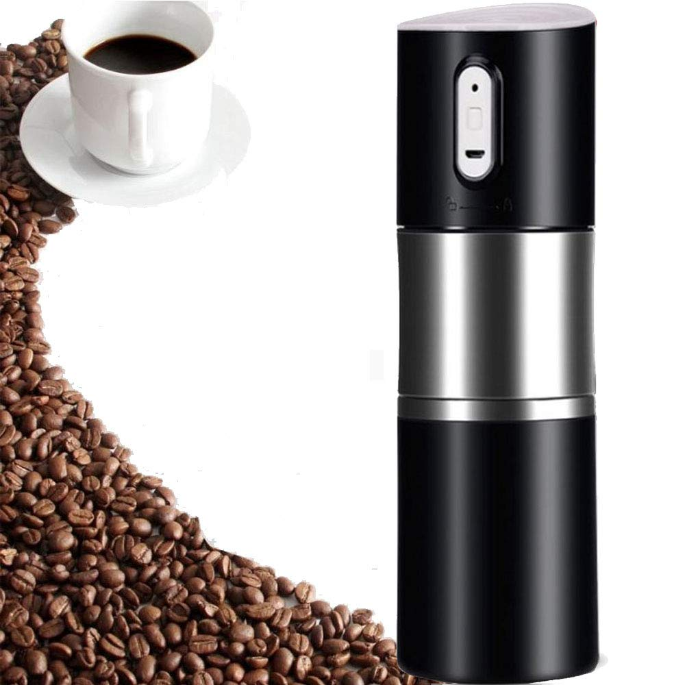 Layopo Electric Coffee Grinder USB Rechargeable Smart Coffee Bean Grinder- Multi-Function Stainless Steel Personal Coffee Grinder Coffee Cup with Filter for Office, Home, Travel, Camping by Layopo (Image #1)