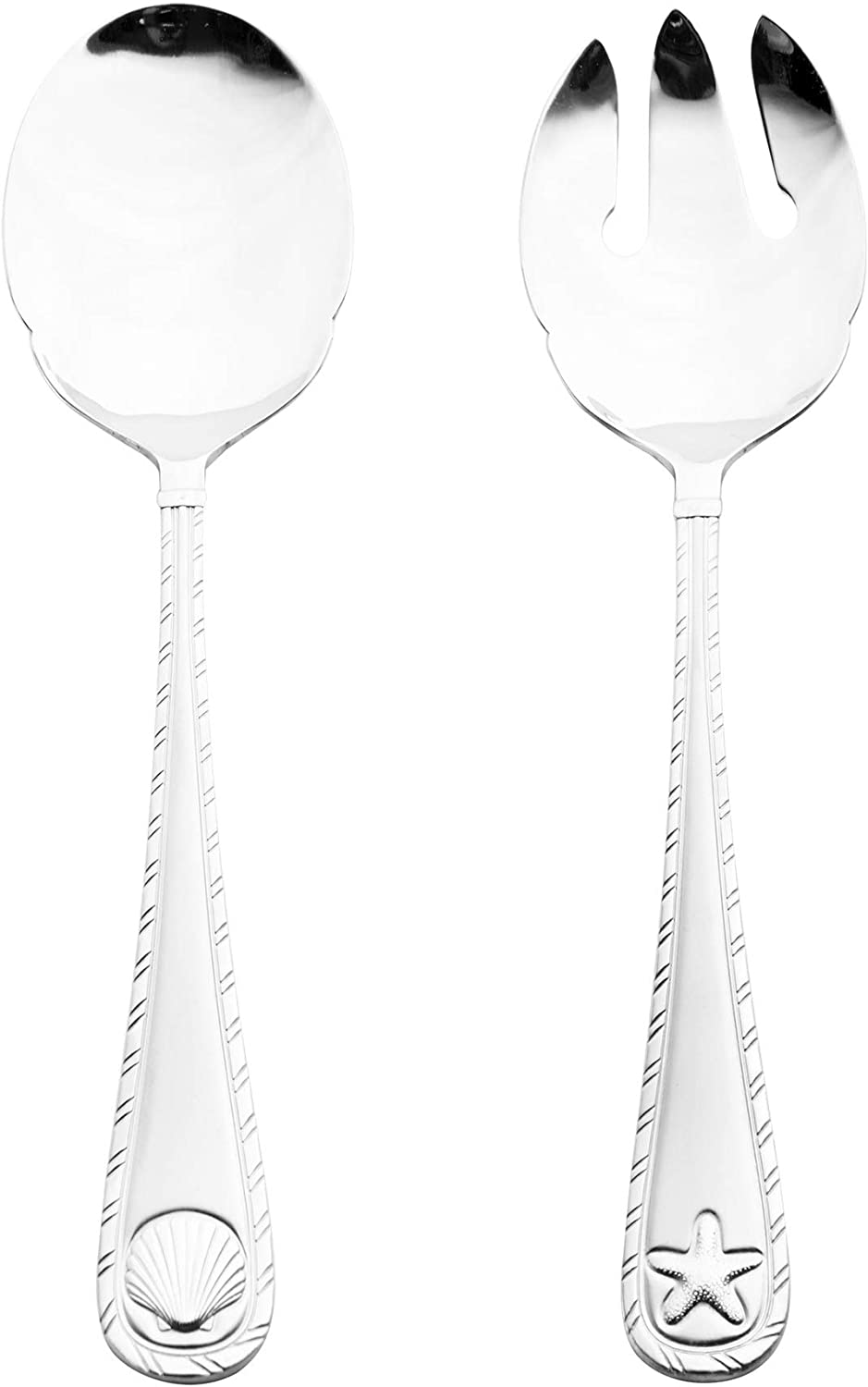 Towle Living Antigua frost Serving set, 2-Piece, Stainless Steel