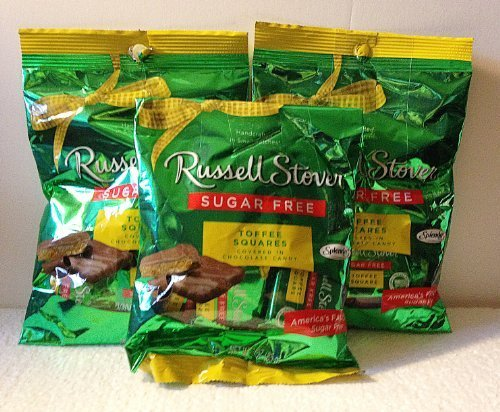 Russell Stover Sugar Free Toffee Squares 3oz (Pack of 3)