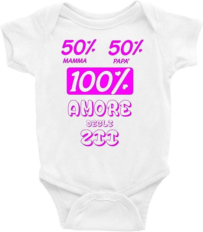 Sono LAmore della Zia Idea Regalo t-shirteria Body Neonato Divertente