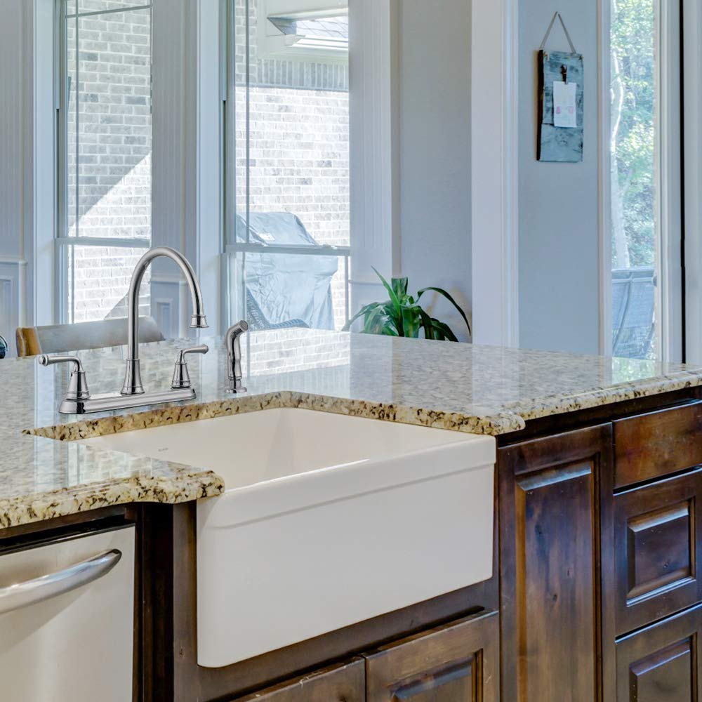 Design House 524710 Eden Kitchen Faucet with Side Sprayer, Polished ...