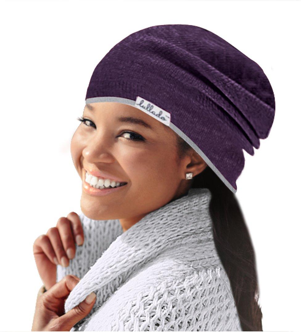 Lullado Silk Satin-Lined Slouchy Beanie Cute, Warm Winter Hat in Fine Knit, Lull Cap, Chemo Cap, Unisex | Ships Fast!