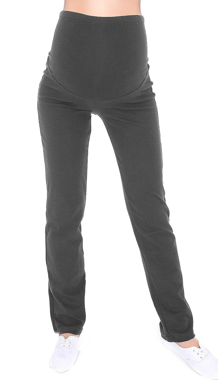 c83e0416b0bd8 Mija - Maternity Casual Comfortable Yoga Trousers Over Bump 3010 at Amazon  Women's Clothing store:
