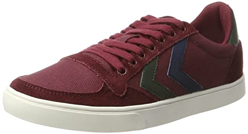 Slimmer Stadil Canvas, Unisex Adults Low-Top Sneakers Hummel