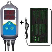 LERWAY Seedling Heat Mat 21W 52x25cm Waterproof Heating Mat Pad + Digital Temperature Controller 240V Heating Thermostat…