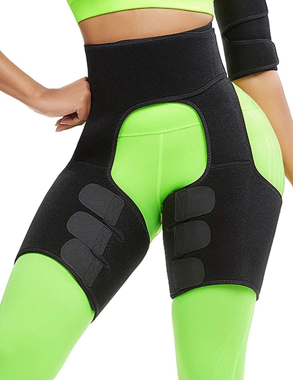 Details about  /Slim Deit Belt Thigh Slimming Shaper Compression Thigh Support Sleeve Massage