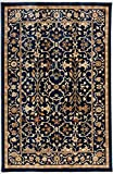 Antep Rugs ORIENTAL WAVE Collection ROYAL Floral Oriental Area Rug NAVY/IVORY 8' X 10'(96'' X 116'')