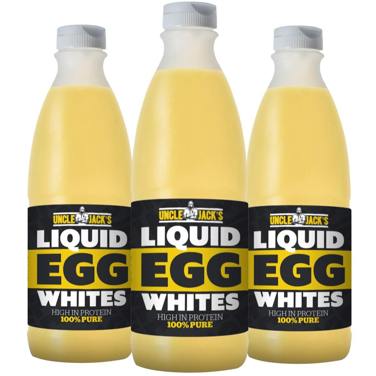 Uncle Jack's Free Range Liquid Egg Whites 3 x 970ml Bottle Eggs Protein