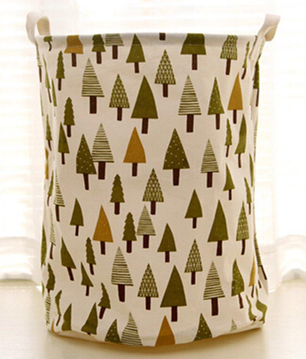 Fashionable Cotton Fabric Folding Laundry Hamper Storage Basket Dirty Clothes Hamper Basket (Bohemia) D-WADE-LI