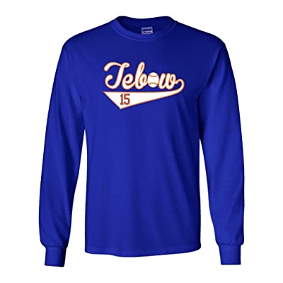 "Long Sleeve Tim Tebow ""Tebow Baseball"" T-Shirt"