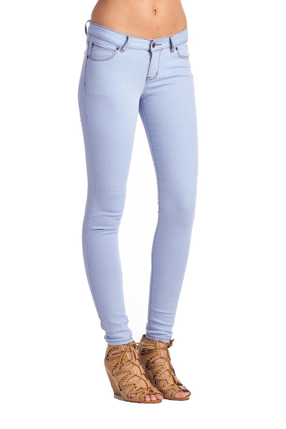 Blue Age Womens Perfect Fit Stretch Cotton Skinny Jeans(P9718L_LTBLUE_9)