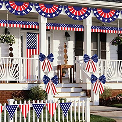 """Amscan Patriotic Fourth of July Party Ultimate Outdoor Decorating Kit (12 Piece), Multi Color, 2.4 x 0.7"""""""
