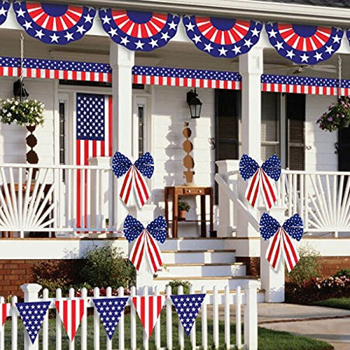 Amscan Patriotic Fourth of July Party Ultimate Outdoor Decorating Kit (12 Piece), Multi Color, 2.4 x 0.7