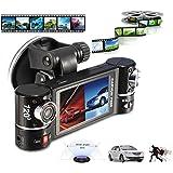 HARRYSTORE New Dual Lens Car Camera Vehicle DVR Dash Cam Two Lens Video Recorder F600 Black