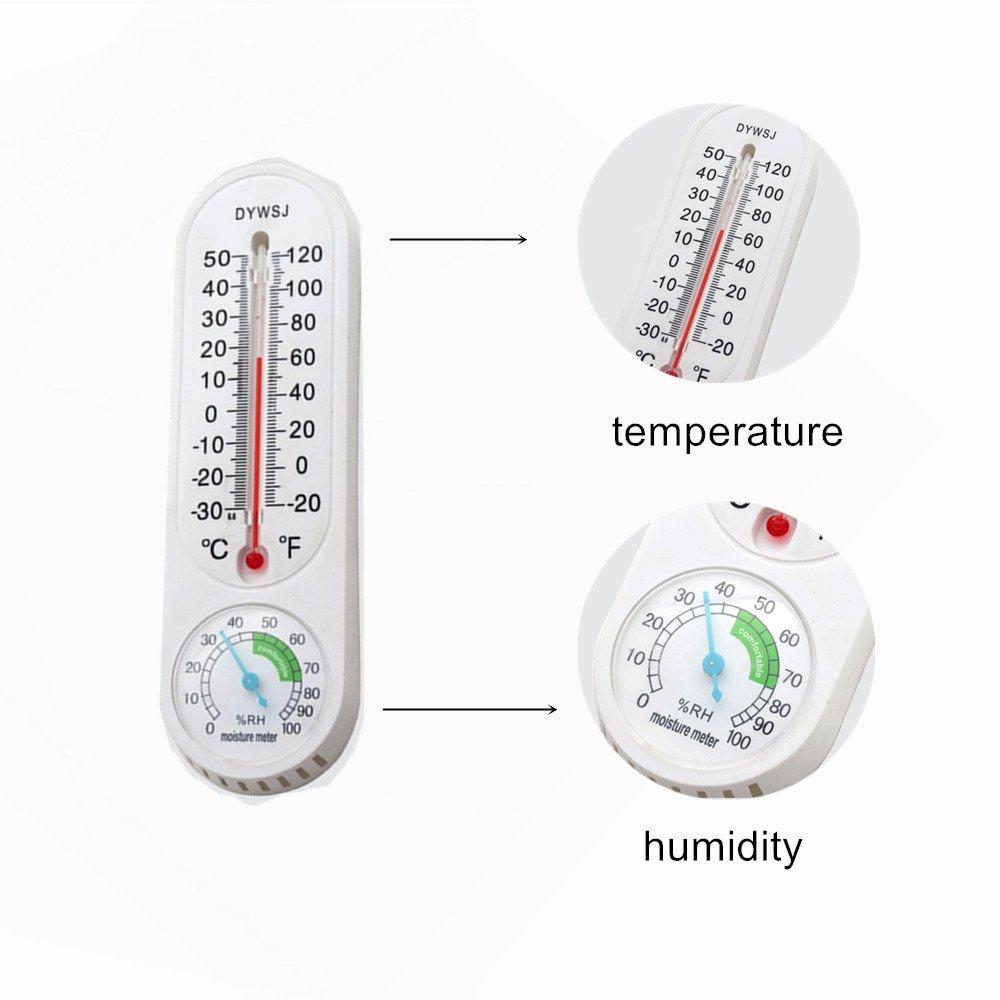 Taiyang International 2pcs Room Temperature Humidity Meter Weather Station Hygrometer Thermometer Indoor Humidity Monitor with Temperature Gauge