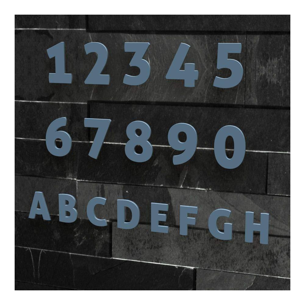 , 20 cm H/öhe: 20-30 cm 2 Schriftart: Modern viele Farben w/ählbar Edelstahl geb/ürstet Colours-Manufaktur Hausnummer Nr