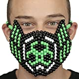 Biohazard Green and Black Toxic Full Kandi Mask by Kandi Gear