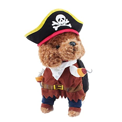 Zghzsc Piratas del Perro casero Traje de los Trajes del Gato del ...