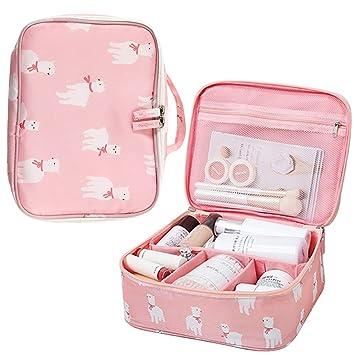 Amazon.com   Portable Cosmetic Bag Alpaca Makeup Pouch Travel Toiletry Bag    Beauty 3518c939da7f5