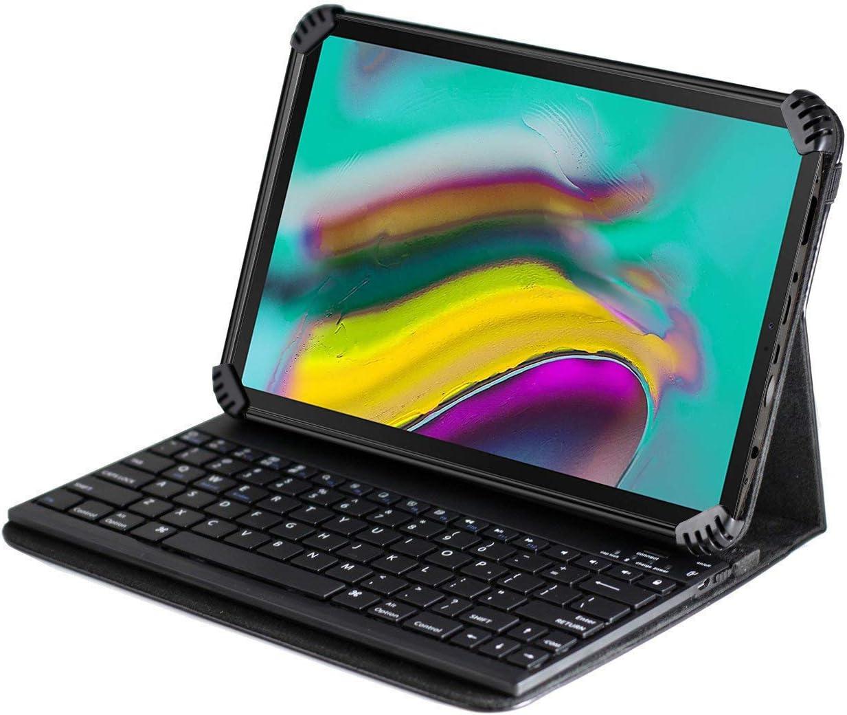Navitech - Funda con Teclado Bluetooth para Español Compatible con La Acer Iconia One 10