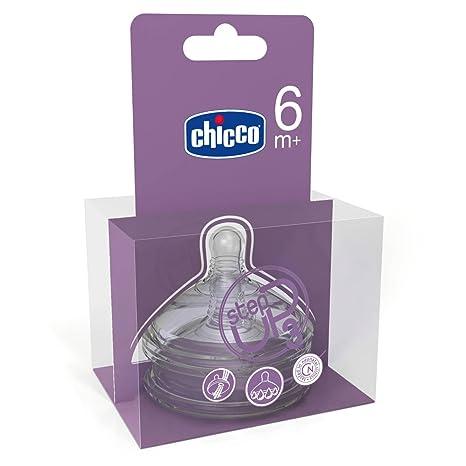 Chicco 00060075100000 Step-Up 3 - Tetinas de silicona, especial papilla (2 unidades