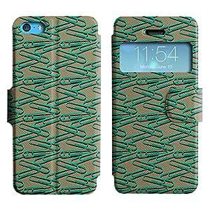 LEOCASE cute pines Funda Carcasa Cuero Tapa Case Para Apple iPhone 5C No.1004739