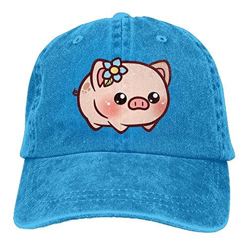 Hainingshihongyu Little Piggy Baseball Caps Adult Sport Cowboy Trucker Hats Adjustable RoyalBlue - Denver Best In Malls