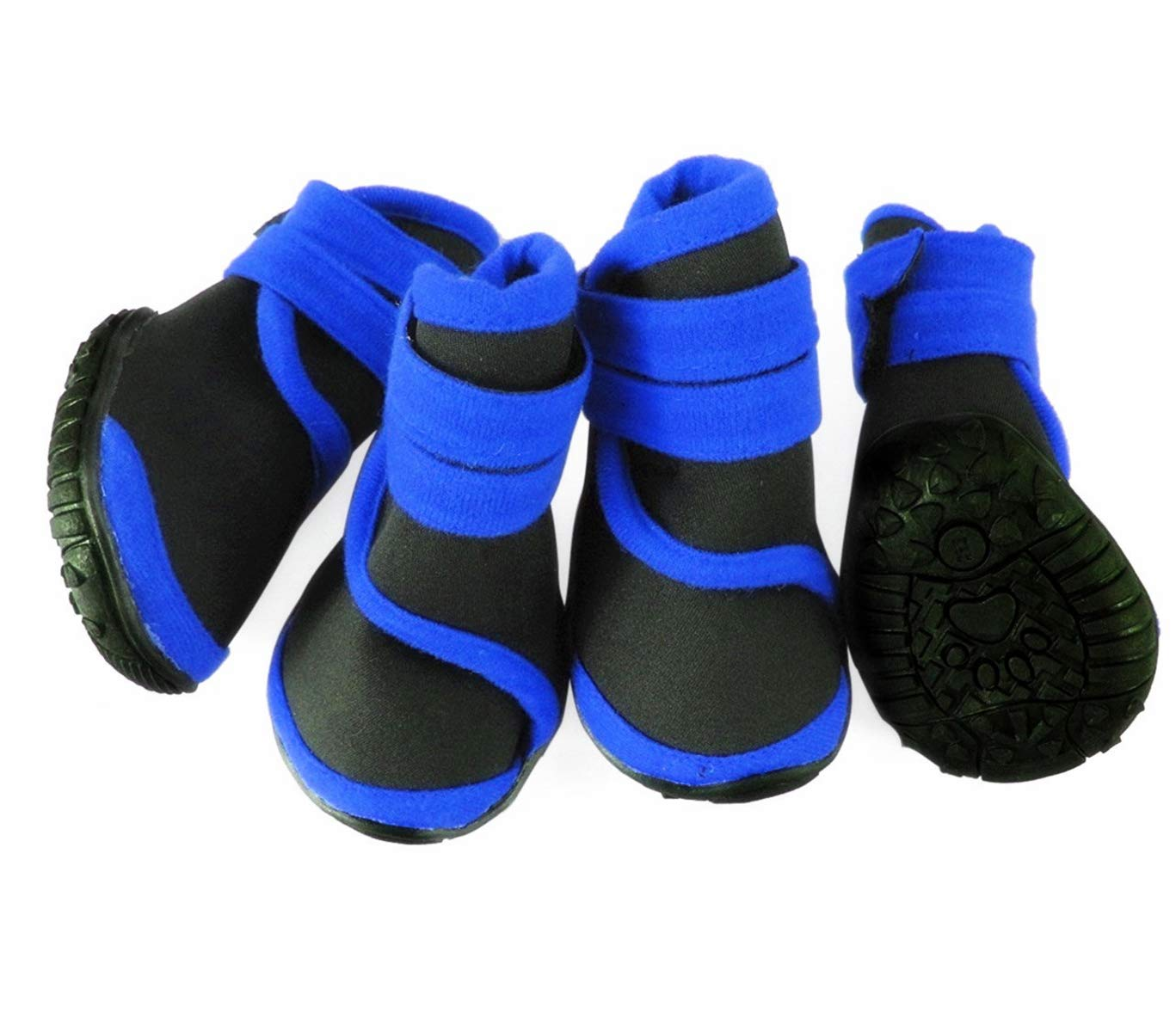 abcGoodefg 4pcs Pet Dog Shoes-Puppy Nonslip Sport Shoes Sneaker Boots Rubber Sole - Size XS (L, Blue)