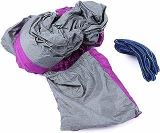 SHUFAGN,Tissu en Nylon de Parachute portatif de Couleur mélangée à Deux Personnes d'hamac pour l'usage d'intérieur et extérieur(Color:Violet,Size:2)
