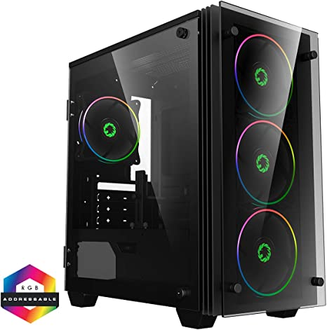 GameMax Stratos Mini ARGB Micro-ATX PC Gaming Case MATX, 3 Pin ...