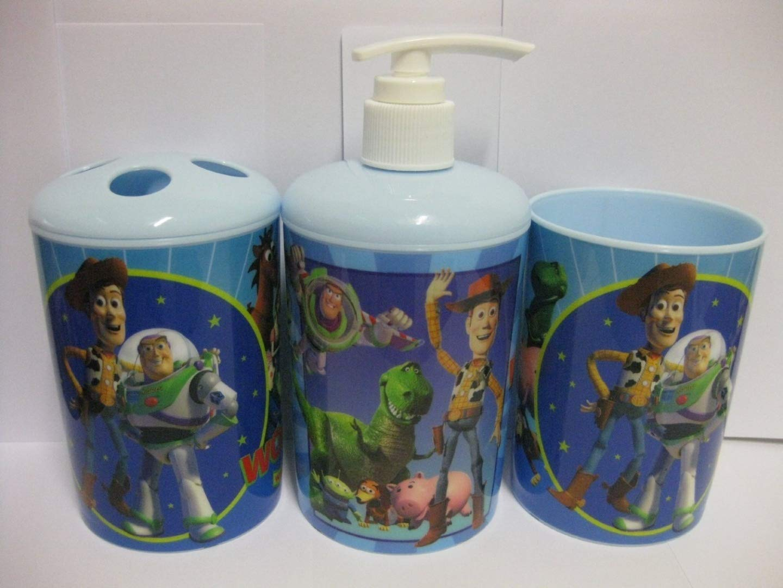 Disney Toy Story 3-Piece Bathroom Accessories Set