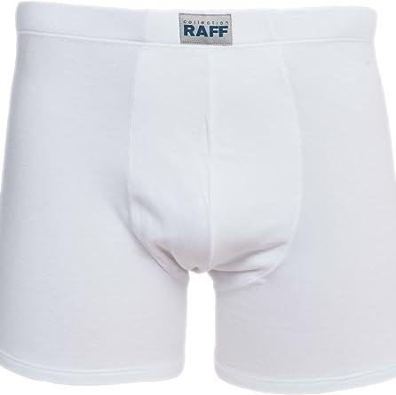 Raff - Bóxer Skin algodón/Licra clásico Cerrado Blanco de XL ...