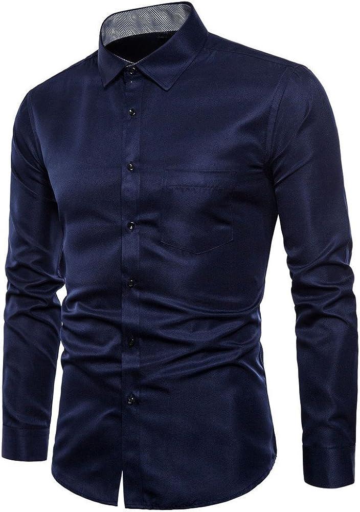 FAMILIZO Camisas Hombre Manga Larga Slim Fit Camisas Hombre Lino Camisas Hombre Originales Negocio Tops Blusa Hombre Blanca Otoño Business Casual Formal Slim Button-Down Bolsillo: Amazon.es: Ropa y accesorios