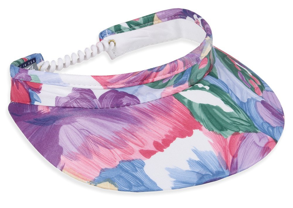 Town Talk 3'' Floral Paintings Twisted Cord Visor (5499)