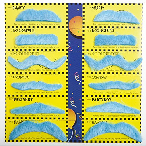 Forum Novelties 70632 Blue Mustache Party Pack -