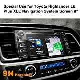 LFOTPP Toyota Highlander LE Plus XLE 2015-2017 8 Inch Car Navigation Screen Protector, [9H Hardness] Tempered Glass In-Dash Screen Protector Center Touch Screen Protector Anti Scratch High Clariy