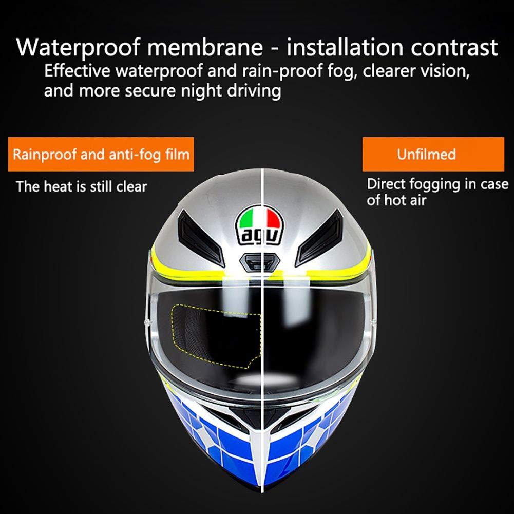 TEEKOO Parche para Casco Impermeable y a Prueba de Niebla antivaho para la Lluvia Parche de Lente antivaho para Motocicleta Tipo Universal