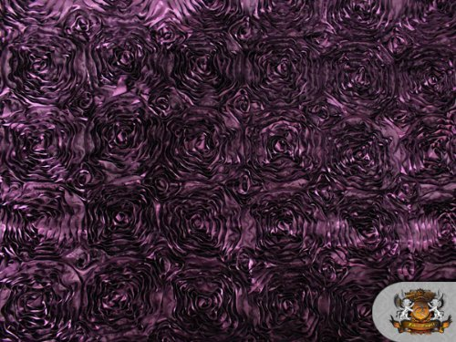 Violet Rosette - 1 X Rosette Satin Violet Fabric By the Yard