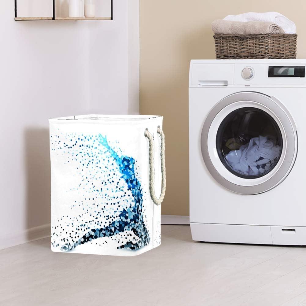 Indimization Impression de Patte Blanche Sac à Linge Rectangle en Tissu Oxford avec poignées Panier de Rangement Haute capacité 49x30x40.5 cm Color2