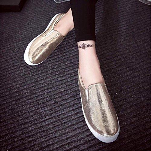 Malloom® Sandalen, Frühling Frauen Loafers Mode Casual Flats Schuhe Slipony Lazy Sportschuhe Gold